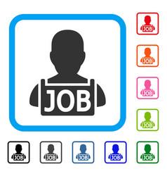 unemployed framed icon vector image