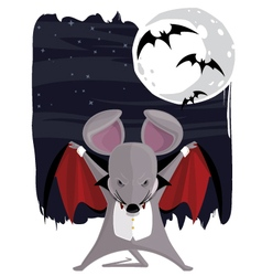 vampire mouse vector image