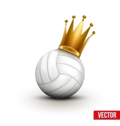 Volleyball ball with royal crown of princess vector image