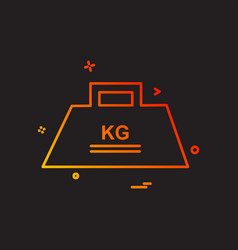 weight icon design vector image