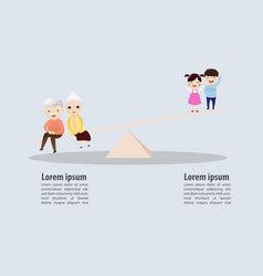 Weight scale aging social concept vector