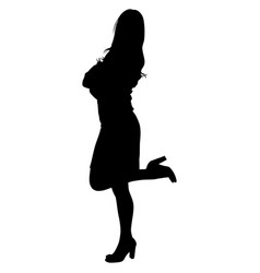 woman is standing on one leg vector image