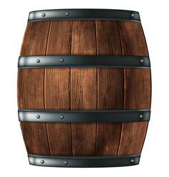 wooden barrel for wine or other drinks studded vector image
