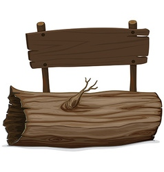 Wooden log and sign vector image