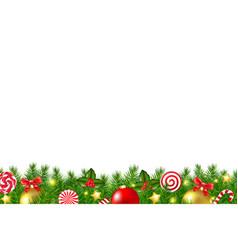 xmas border vector image