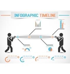 INFOGRAPHIC MODERN TIMELINE MAN 2 vector image