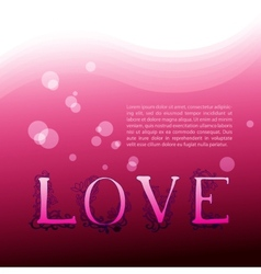 Love Background with graphic letters vector image
