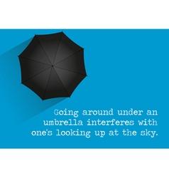 Umbrella Quote vector image vector image