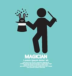 Black symbol graphic of magician vector