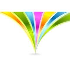 Colorful shiny waves background vector image