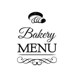 design for bakery or baking shop emblem with hand vector image vector image