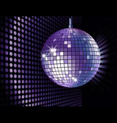 disco ball purple vector image