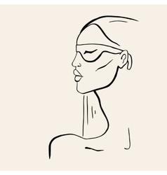 Hand drawn fashion Portrait vector image vector image