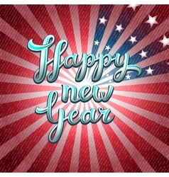 Happy New Year greeting card of America vector image