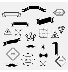 hipster set vector image