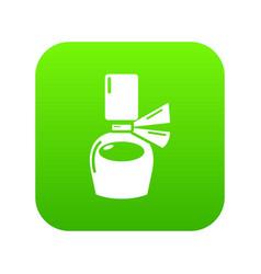 perfume bottle gift icon green vector image