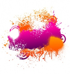 purple and orange paint splatter vector image vector image