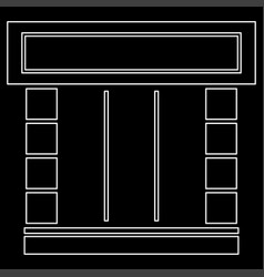 shopfront white color path icon vector image vector image