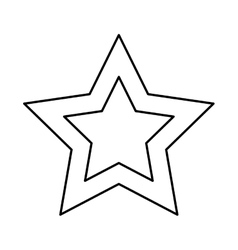 Star shape design isolated figure of five points vector image
