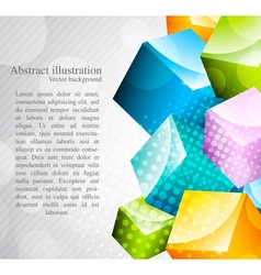 abstract colorful cubes vector image vector image