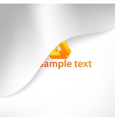 Abstract White Background with Orange Text Space vector image