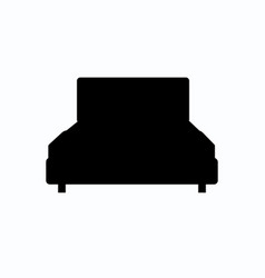 bed icon isolated on background modern flat vector image