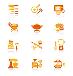 Cooking set - JUICY series vector image