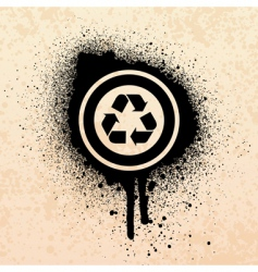 graffiti recycle symbol vector image vector image