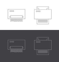 Print and shredder flat icons vector image vector image