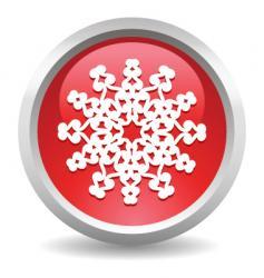button snow vector image vector image