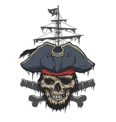 Captain and pirate attributes vector image vector image
