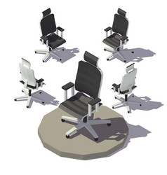isometric adjustable armchair vector image