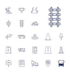 22 road icons vector