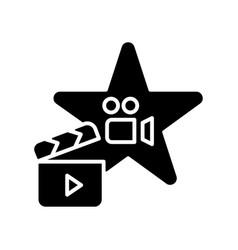Actors talent black glyph icon vector