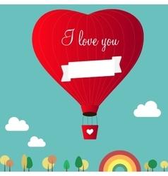 Aerostats heart inscription happy birthday vector
