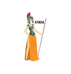 Athena olympian greek goddess ancient greece vector