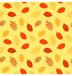 Autumn fallen leaves seamless pattern vector