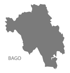 Bago myanmar map grey vector