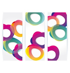 Banners with abstract multicolored background vector