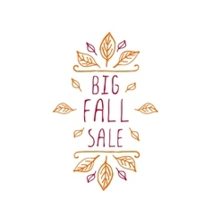 Big Fall Sale - typographic element vector