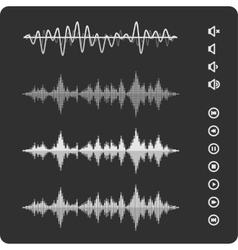 Black waves equalizer vector image
