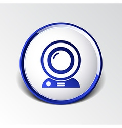 camera video icon web insight cam chat network vector image