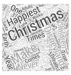 Christmas at disneyland Word Cloud Concept vector