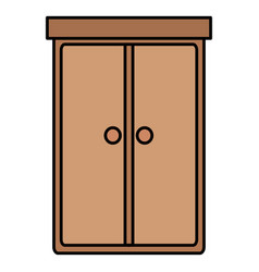 closet bedroom isolated icon vector image