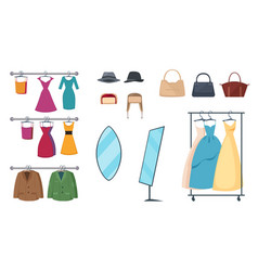 clothing store icon set vector image