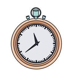 color graphic of stopwatch with thick contour vector image