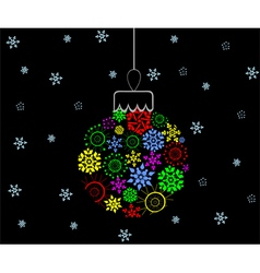 Colorful Christmas ball vector image