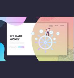Corporate governance business success website vector
