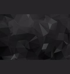 dark black polygonal which consist of triangles vector image