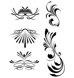 Decorative swashes vector